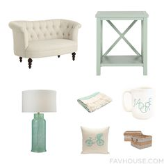 Home Decor With Beige Sofa, Accent Table, Glass Shade And Jaipur Blanket