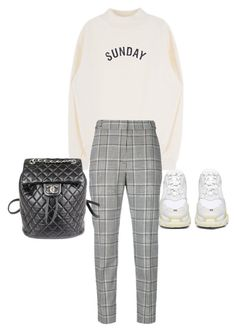 """Untitled #23237"" by florencia95 ❤ liked on Polyvore featuring Balenciaga, Alexander Wang and Chanel"