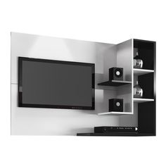 Home Simbal Sleep Acapulco com Painel para TV LCD - Branco/Preto - Racks no CasasBahia.com.br