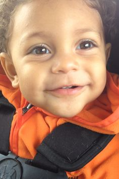 Roman at 16 months! So adorable! Mixed baby, babies, cute, interracial, hazel eyes, smile, smiling, look at that face, year and a half, Bay Area, black and white