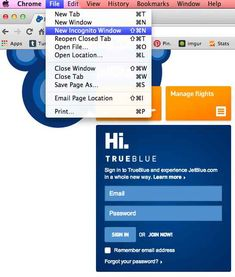 Enable private browsing when searching or booking flights online.