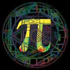Pi Symbol BW Shot Glass