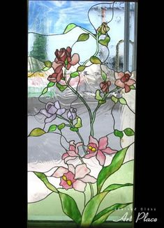 Lovely Flowered Stained Glass Window