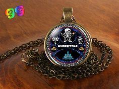Undertale Sans Flowey Papyrus Castle & Butterscotch Cinnamon Pie Gaming Necklace Chain & Pendant Charm Jewelry