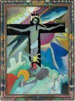 Wassily Kandinsky.  Cristo Crucificado de 1911