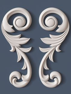 10 decorative scrolls collection model max obj fbx ma mb 2 - Tülin Uncu - Welcome to the World of Decor! Wood Carving Designs, Wood Carving Patterns, Wood Carving Art, Arabesque, Thermocol Craft, 3d Cnc, 3d Modelle, 3d Home, Art Sculpture