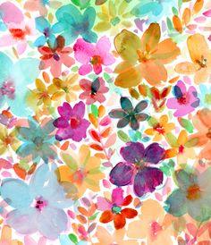 Tresco Isle Style.... Watercolor #florals