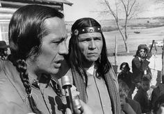 AIM Leaders Russell Means and Dennis Banks at Wounded Knee, 1973