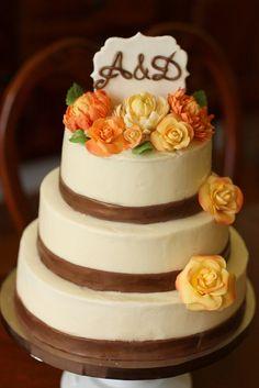 Rustic Fall wedding cake   Flickr - Photo Sharing!