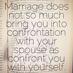 Truth from Tim Keller's The Meaning of Marriage.