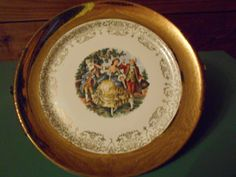 W.S. George- Crest o Gold, Sabin, Warranted 22K Collectors Plate by SETXTreasures on Etsy