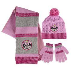 Komplet: czapka, szalik i rękawiczki Myszka Minnie - Hurtownia Gatito