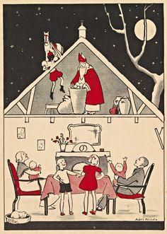 Adri Alindo Illustraties uit kinderboeken over Sinterklaas | Koninklijke Bibliotheek
