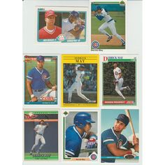 7dd8644a03d 20 + Different DERRICK MAY cards lot 2 RCs 1990 - 1996 all Cubs Listing in