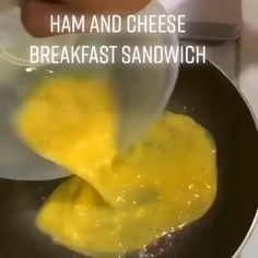 Breakfast sandwich to go! - What You'll Need: 2 Eggs 2 Slices of your favourite Bread 1 Slice of your favourite Cheese Tofu s - Ham And Egg Sandwich, Egg Sandwiches, Breakfast Sandwiches, Keto Recipes, Cooking Recipes, Healthy Recipes, Cooking Dishes, Baby Recipes, Protein Recipes