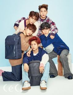 B1A4 model the handsome campus look for 'Ceci' | allkpop.com
