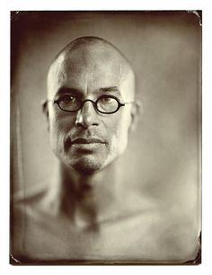 """Zonder rood petje"" Brown glass ambrotype 18 cm x 24 cm Tintype Studio"
