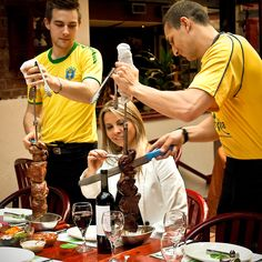 Let our expert Churrascos take care of you and your guests! Always informative and quick to serve, feel free to ask for them to return with your favorite meats! Frozen Pina Colada, Frozen Daiquiri, Frozen Drinks, Beef Sirloin, Roast Beef, Filet Mignon Roast, Brazilian Cocktail, Roasted Pineapple, Brazil