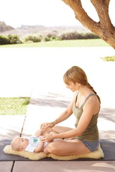 Mommy and Me yoga moves for after baby is here :)