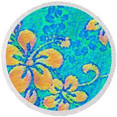 Round #Beach Towel  #Hawaii #Style by Modern Art on pixels.com