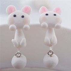 Fine or Fashion: Fashion Earring Type: Stud Earrings Item Type: Earrings Back Finding: Push-back Style: Trendy Gender: Women Material: Ceramic Metals Type: Zinc Alloy Shapepattern: Animal Model Numbe
