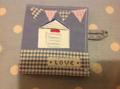 Cute Little Beach Hut needle case from 'Love Sewing' http://www.facebook.com/Lovesewing.uk