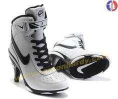 af2058455f6de4 2014 White Black Women Nike Air Force High Heels Nike Zoom
