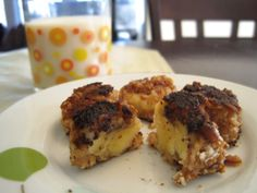 My Chiquita banana recipe contest entry: Banano Bites. Sliced banana, dipped in a PB + yogurt blend, rolled in crushed pretzels, pan fried in butter.