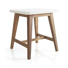 Cliff Side Table in Coffee Tables & Side Tables | Crate and Barrel #minimal #wood #marble