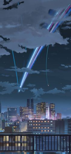 Wallpaper Anime Kimi No Nawa Ideas Anime Backgrounds Wallpapers, Anime Scenery Wallpaper, Animes Wallpapers, Cute Wallpapers, Your Name Wallpaper, Boys Wallpaper, Mobile Wallpaper, 3d Fantasy, Fantasy Landscape