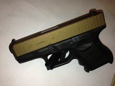 Glock 27 coated with Burnt Bronze. Glock Accessories, Firearms, Hand Guns, Bronze, Film, Collection, Color, Design, Movie
