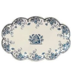 Cute blue and white plate