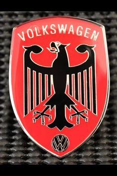 RED BADGE VW EMBLEM