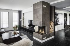 it' snowing outside Cabana, Home Fashion, Interior Inspiration, Living Room, House Styles, Design, Leather, Furniture, Fireplaces