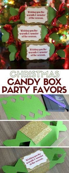 Christmas Candy Box Party Favors make great gifts and are fun to make! Use the Candy Box Punch Board and follow this easy DIY paper craft tutorial idea.