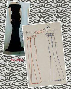 New dress pattern formal short Ideas Mermaid Dress Pattern, New Dress Pattern, Gown Pattern, Simple Dress Pattern, Formal Dress Patterns, Dress Sewing Patterns, Clothing Patterns, Pattern Sewing, Diy Dress