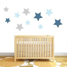 Pack Of 10 Star Fabric Wall Stickers - wall stickers