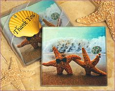 A Perfect Beach Pair Coasters from Cassiani Collection Favors
