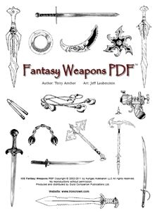 Rolemaster fantasy weapons is a collection of weapons created for use in Iron Crown Enterprises' Rolemaster but useable in any fantasy RPG.