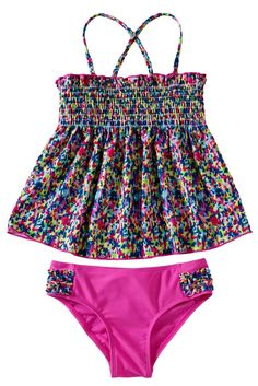 Little Girls Boho Two Piece Swimsuit Set