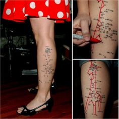Funny tattoo !!!! I only love this because its a giraffe :)