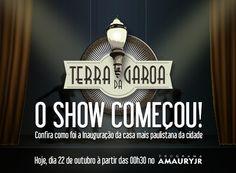 A inauguração do Terra da Garoa foi um sucesso!   E hoje o musical mais falado de São Paulo ganha cobertura completa no Programa do Amaury Jr à partir das 00h30.  Não percam a oportunidade de ver os detalhes desse grande espetáculo.