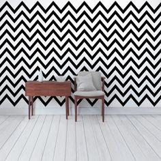 #Streifentapete - Vliestapete Premium - #Schwarz-#Weiß ZickZack - Gestreifte Zick Zack #Tapete Breit #Hippie #Ethno #Style #Muster #bunte #Farben #Lebensfreude #Wohnstil
