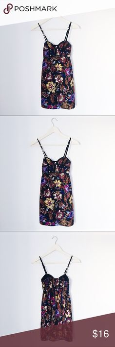 Xhilaration cute strappy floral spring dress 100% polyester & like new condition. Stretchy back elastic detail. Xhilaration Dresses