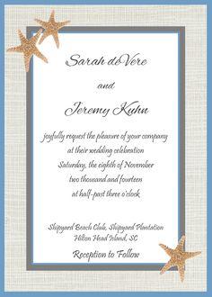 An invitation idea