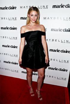 """lili-reinhart: """" Actress #LiliReinhart attends Marie Claire's 'Fresh Faces' celebration with an event sponsored by Maybelline at Doheny Room on April 21, 2017 in West Hollywood, California.(Photos by..."""