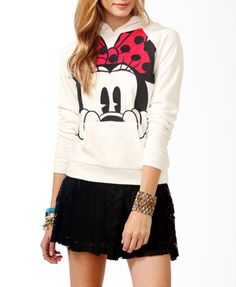 Minnie Mouse Pullover Hoodie | FOREVER21 - 2018509575 I waaaant this hoodie!! :o