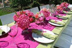 Our mothers Day table setting- pink, green and cream Mothers Love, Happy Mothers Day, Mom Day, Best Mother, Table Settings, Parties, Party Ideas, Stripes, Lunch