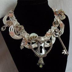 Romantic wedding necklace Key to my heart by HopscotchCouture, $197.00