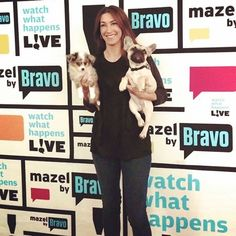 Kirby, Ryder and I getting ready for our bartending duties on Bravo's Watch What Happens Live. 08/14/14. #bravo #wwhl #andy #dogs #andreaarden #dogtraining